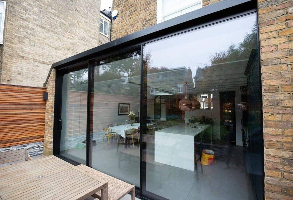 black aluminium patio sliding doors uk